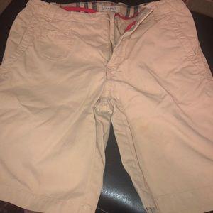 Burberry boys khaki shorts